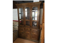 Large wood&glass dresser