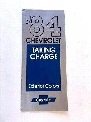 1984 Chevrolet Color Paint Car Brochure Guide - Camaro Monte Carlo Z28 (Camaro Paint Colors)