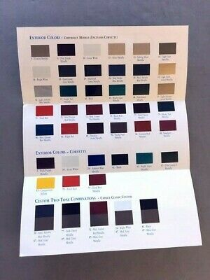 1995 Chevrolet Paint Colors Guide Brochure - Caprice Camaro Corvette Monte (Camaro Paint Colors)