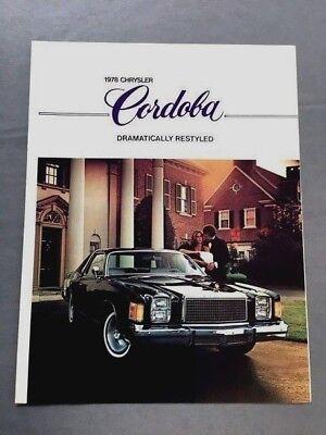 1978 Chrysler Cordoba Original Canada Car Sales Brochure Catalog