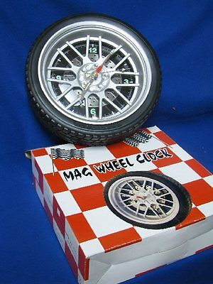"""For sale MAG WHEEL WALL CLOCK. 10.2"""" Diameter. Brand New in Box!"""