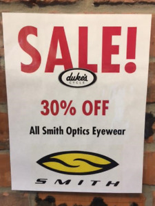 Smith Eyewear and Lenses 30% off