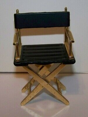 Black Brass Metal Directors Chair Magnetic Paper Clip Holder