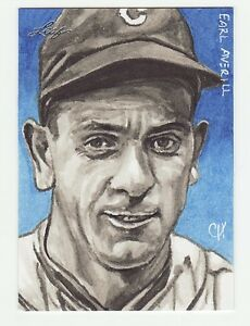 EARL AVERILL 2013 LEAF LEGENDS OF THE DIAMOND SKETCH BY *CHRIS HENDERSON* 1/1