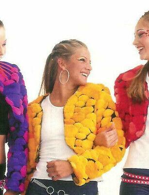 Gold Yellow BRATS Jacket Faux Fur Pom Pom Dance Hip Hop Costume (Cc Dance Costumes)