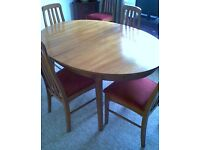 Retro Extending Dining Table and 6 Chairs