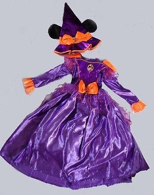MINNIE MAUS KOSTÜM HALLOWEEN-HEXE Hexenkostüm Disney Hexenhut Kleid - Lila Maus Kostüm
