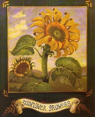 2 Garden Art Prints-Home/Kitchen Wall Decor Sunflowers on Rummage