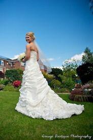 Stunning ivory Ronald Joyce Dulce wedding dress, size 10