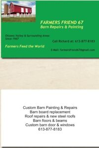 BARN REPAIRS AND PAINTING