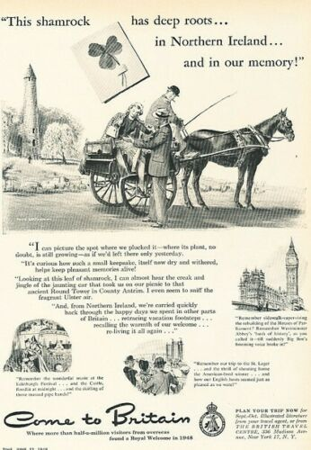 1949 Northern Ireland Round Tower Original Advertisement Print Art Ad K97