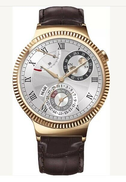 Huawei Smartwatch 42mm Stainless Steel Leather Gold 55020534