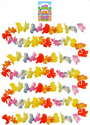 Rainbow Lei Bunting - 300cm - Luau Tropical Garland Party Banner Flower