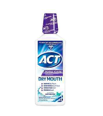 ACT Total Care Anticavity Fluoride Rinse Dry Mouth Soothing Mint 18 oz ()