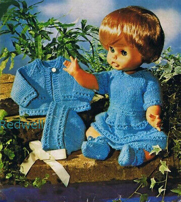 Knitting pattern. 0059. Dolls clothes for 14 & 18 inch dolls.