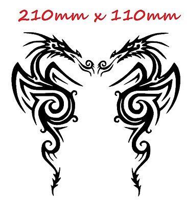 Decal Sticker Pair Of Dragons Car Motorbike Bike vinyl bike st5 WRSX3