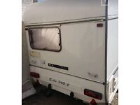 Small lightweight caravan with full awning. Can deliver.