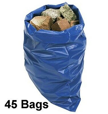 45 Super Strong Rubble Sacks Extra Thick 32L Industrial Garden Waste Builders