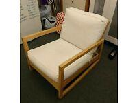 Cream and white chair