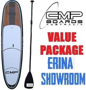 Stand Up Paddle Board SUP Package Paddle Leash Grip TIMBER BLUE Erina Gosford Area Preview