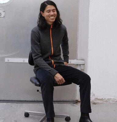 Mads Nørgaard Kemens Front Contrast Zip Sweater Size Medium $198 100% Lambswool
