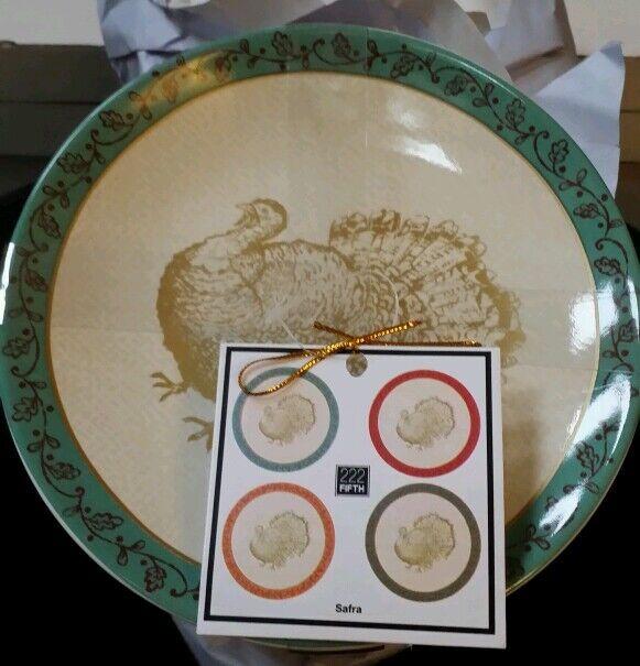 222 Fifth Set Safra Appetizer Snack Holiday Dessert Plates Thanksgiving Serving
