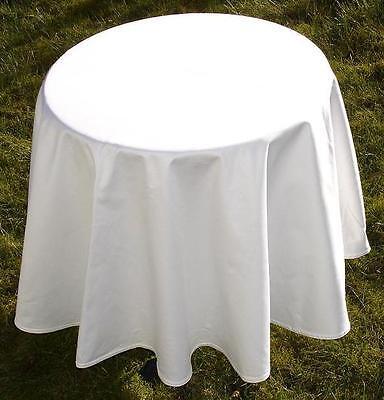 Tischdecke Vollzwirn Damast 280 cm rund weiß Gastro Hotel Bistro Party Hochzeit ()