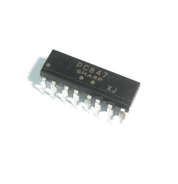10PCS PC847 DIP-16 High Density Photocoupler