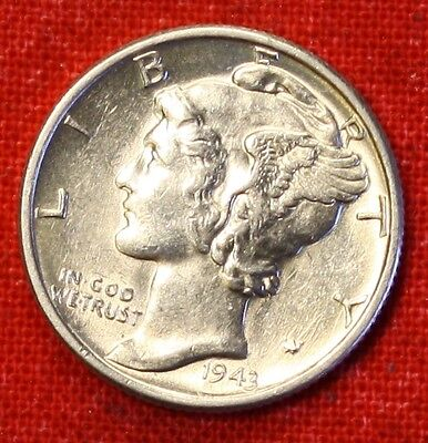 1943-P MERCURY DIME BU 90 SILVER COLLECTOR COIN GIFT CHK OUT STORE  $ MD87