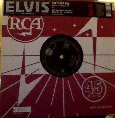 "Elvis Presley she's not you numbered vinyl 10"" reissue"