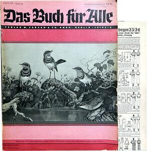Das Buch für Alle. Heft 17-1935/ 36. Mit großem Schnittmusterbogen