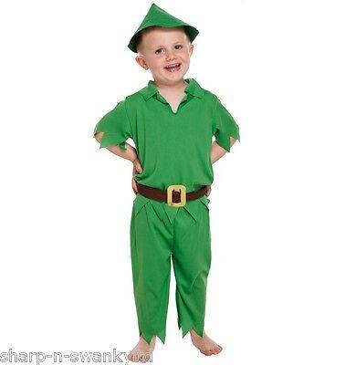 Jungen Kinder Peter Pan Buch Tag Woche Verkleidung Kleid Kostüm Outfit Alter (Peter Pan Kinder Kostüme)