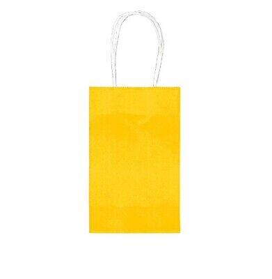 Sunshine Yellow Cub Gift Bags (10 Pack) 8 1/2