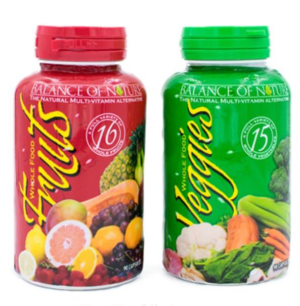 Balance of Nature Fruits and Veggies 90 Caps per Bottle