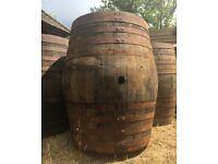 Massive 500 liters solid oak wooden barrel