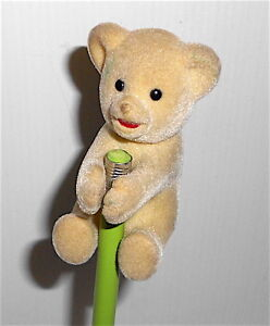 COCCOLINO-80s-Lever-Italy-vintage-puppet-clip-white-bear-pupazzetto-clip