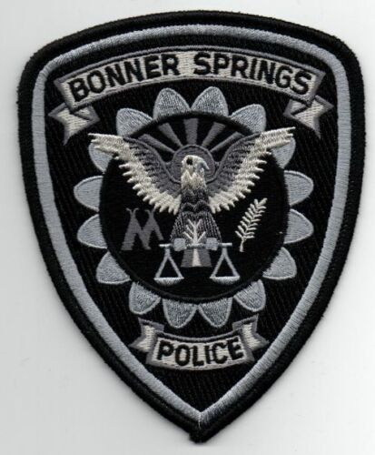 KANSAS KS BONNER SPRINGS POLICE SUBDUED SWAT STYLE NEW PATCH SHERIFF