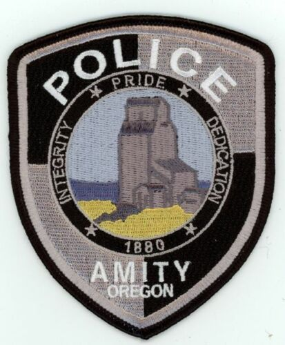 AMITY POLICE OREGON OR NICE COLORFUL PATCH SHERIFF