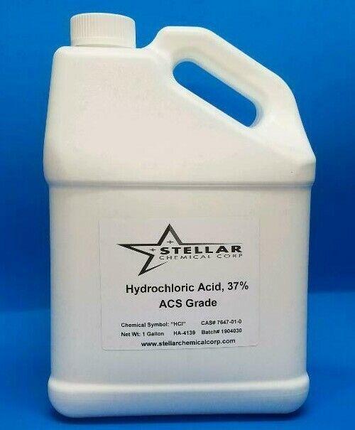 Hydrochloric Acid 37% ACS Reagent Grade       4 Quarts