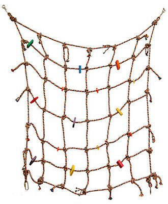 Parrot Bird Toy Climbing Net Play Gym 100% Cotton Rope