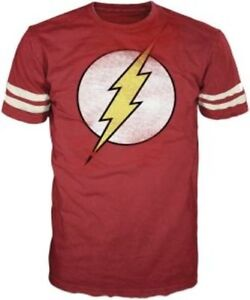 The-FLASH-distressed-soccer-BIG-BANG-THEORY-Sheldon-t-shirt-tee-S-M-L-XL-2XL-XXL