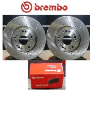 LEXUS IS200 BREMBO DRILLED GROOVED BRAKE DISCS BREMBO PADS