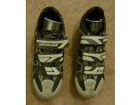 For sale is a pair of Specialized Body Geometry cycling shoes.