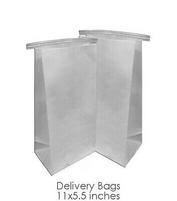 Dental Delivery Bags - Heavy Duty White Paper Bags ( 5.5 x 11