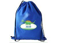 Personalised Dino swim and kit bag