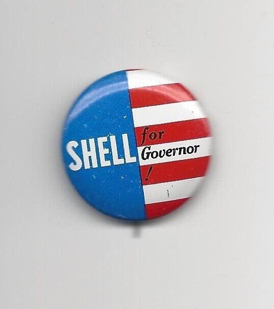 Joseph Shell California (R) Governor candidate 1962 political pin button Nixon