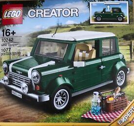 Lego Mini Cooper and Lego whitehouse
