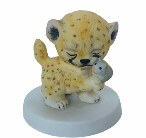 Cheetah Figurine Sunny Animals Heartline anthropomorphic spotted leopard baby