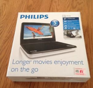 "PHILLIPS 9"" PORTABLE DVD PLAYER -BRAND NEW IN BOX!"