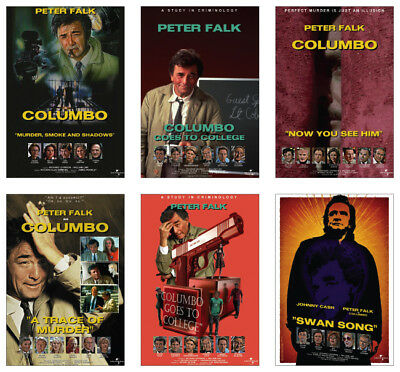 Columbo Peter Falk Episode Posters POSTCARD Set